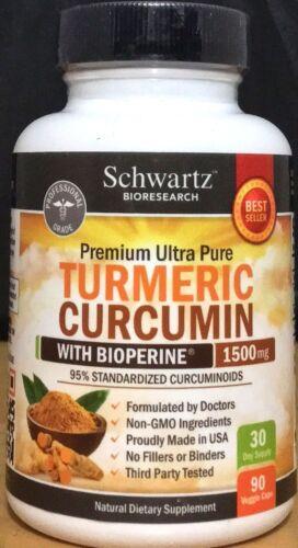Schwartz-BioResearch-Premium-Ultra-Pure-Turmeric-Curcumin-1500-mg-90-Capsules