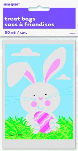 50 X Bolsas De Pascua Bunny botín pequeñas bolsas de fiesta Violonchelo favorece cacería de huevos mini bolsas