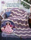 Learn to Crochet in Just One Day 9780881955095 by Jean Leinhauser Paperback