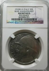 EC-limited reservation product ITALY silver 20 lire 1928