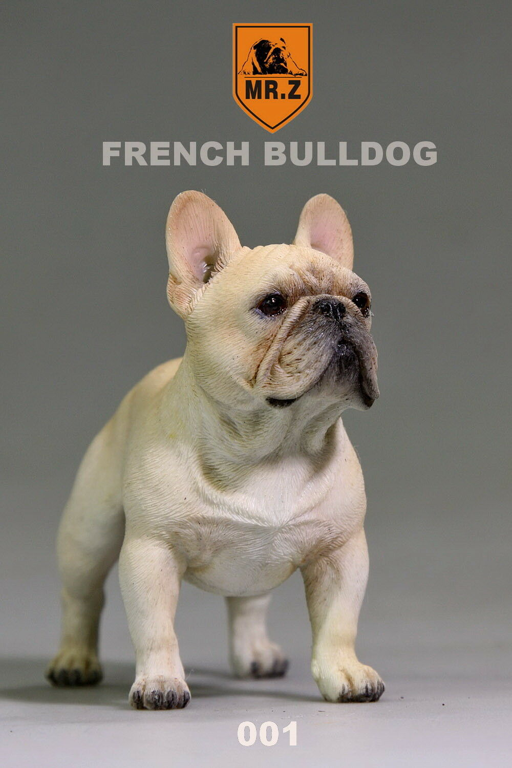 MR.Z Dog Model French Bulldog Resin Statue Cream Car Car Car Interior Decoration 001 New 08ab4a