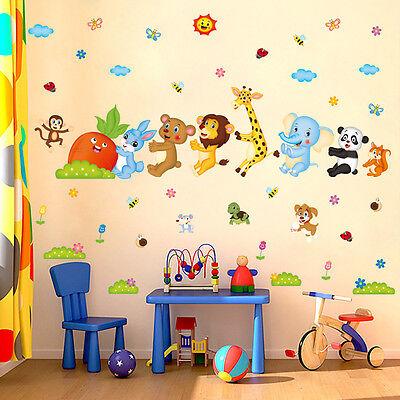 XXXL Wandtattoo Wandsticker Sticker Eulen Affen Fuchs Baum Schaukel Kinderzimmer