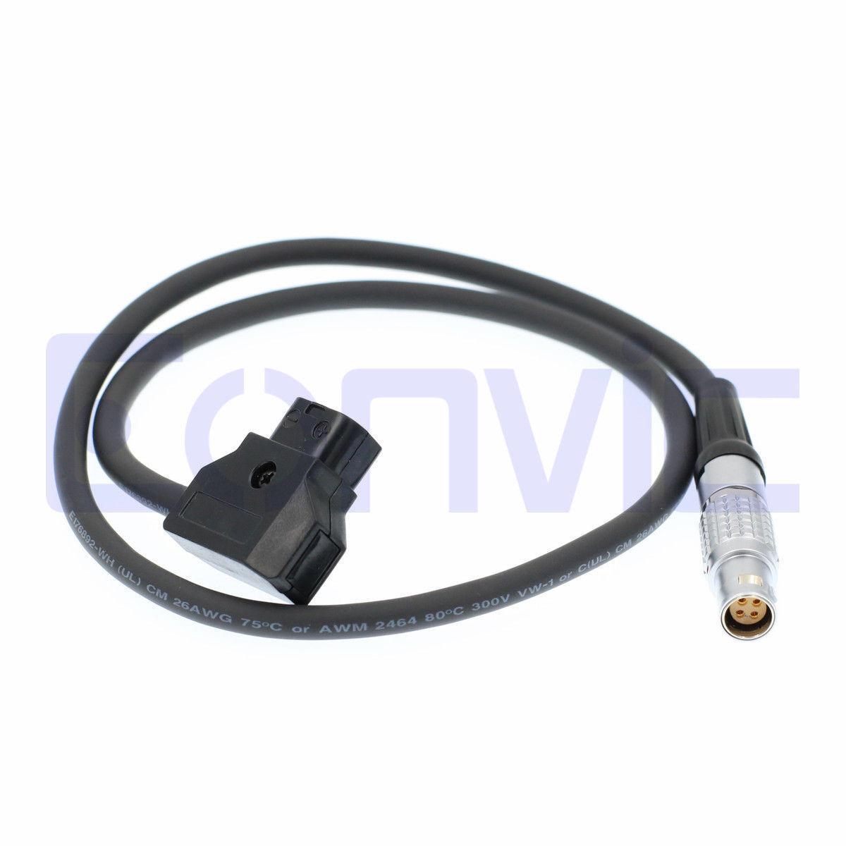 Canon C300 Mark II C100 C200 C500 Power Cable D-Tap to 4 Pin Female