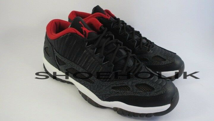 Brand New DS Air Jordan XI low IE 11 Black Red Charcoal 2003 Size 10 306008-061