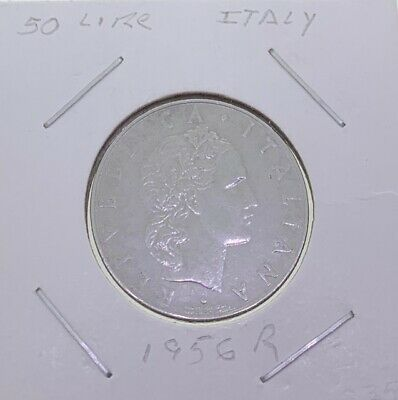 1963 R 50 Lire Italy World Coin Rome Vulcan Hammer Anvil Lira Nice Details