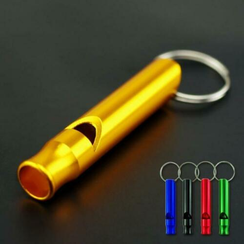 10PC Mix Aluminum Emergency Survival Whistle Keychain For Camping Hiking