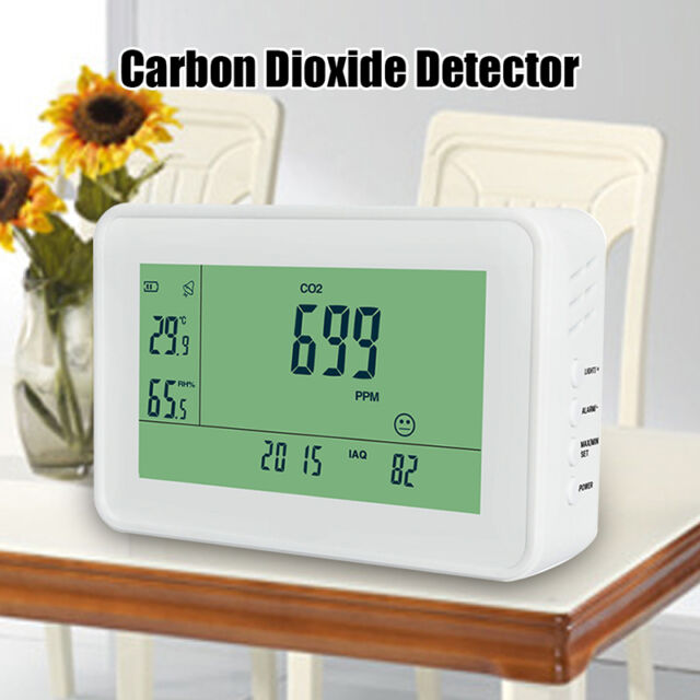 YEH-40 LCD Carbon Dioxide Detector CO2 Monitor Air Quality Meter Office Indoors