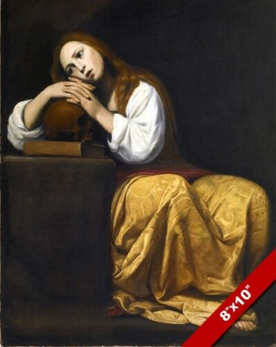 PENITENT MARY MAGDALENE NEW TESTAMENT CATHOLIC BIBLE PAINTING ART CANVAS PRINT