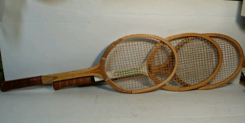 Wood Tennis Racquet  TaiSports Court Ace Vintage Lot of 3