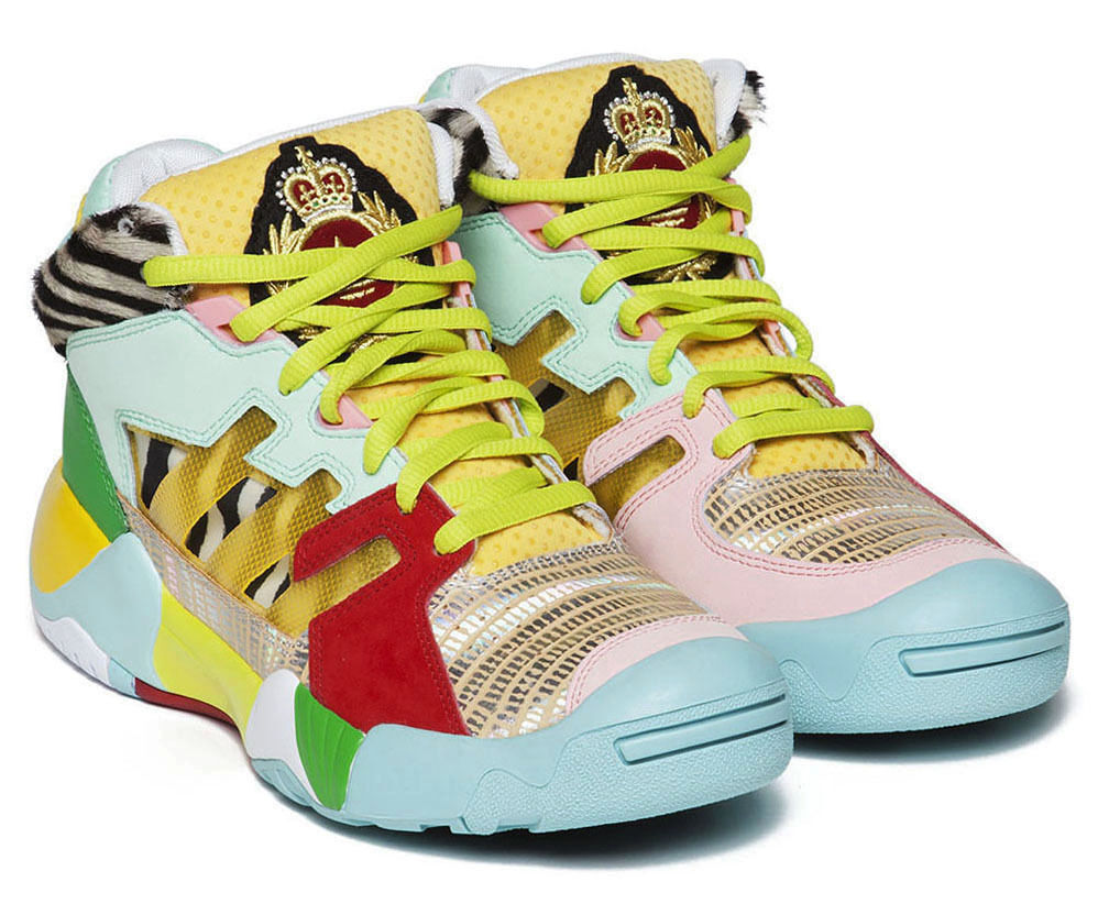 ADIDAS JEREMY SCOTT JS STREET BALL Gr.4611 cutout Q23513 wings floral gold