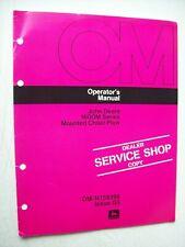Original John Deere 1600m Series Mounted Chisel Plow Operators Manual Om N159398