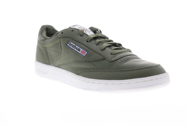 Reebok Club C 85 SO BS5211 Mens Green Leather Lace Up Low Top Sneakers Shoes