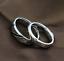 Coppia-anello-Fedi-Fedine-Fidanzamento-Cuore-Spezzato-acciaio-incisioni-charms miniatura 5