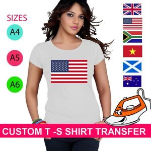 A5 or A4 Bulgaria Flag iron on T-shirt Transfer