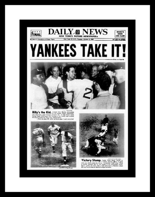 NEW YORK YANKEES 1953 WORLD SERIES CHAMPIONS PHOTO OF ...