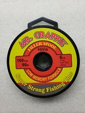 MR CRAPPIE Mega Spool 6lb CLEAR 1500 Yards Super Strong Fishing Line 0.009in