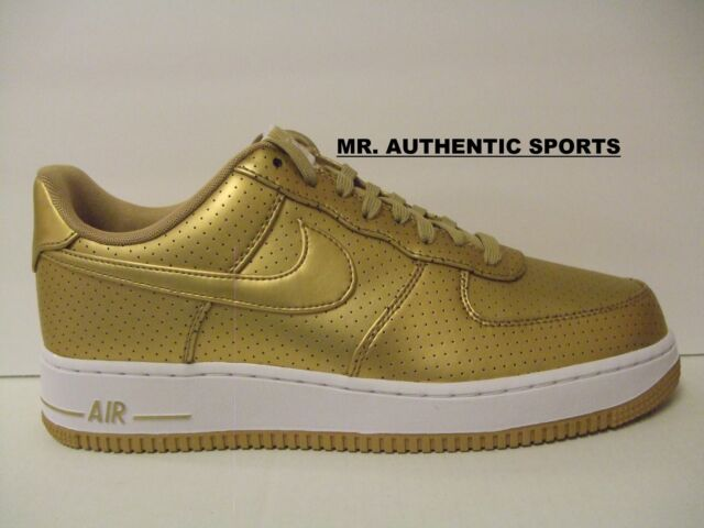 21a81dbb99284 Mens Nike Air Force 1  07 Lv8 Dream Team Olympic Medal Gold White  718152-700 US 10