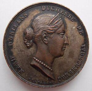 Duchesse De Wurtemberg Jeanne D'arc Medallion 1837-afficher Le Titre D'origine TrèS Poli