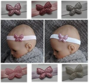 Glitter-Butterfly-baby-headband-hairband-soft-different-sizes-1st-class-post