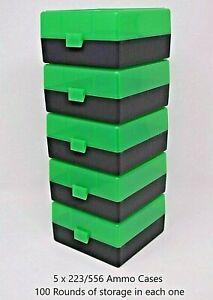 ZOMBIE GREEN 100 ROUND 223 BERRY/'S PLASTIC AMMO BOXES 5.56 5