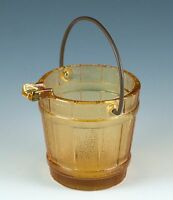Vintage Continental Can Company Amber Glass Bucket Pail