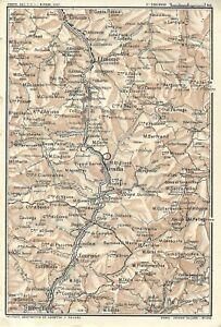 Piemonte Cartina Geografica.Cuneo Colle Di Tenda Limone Piemonte Carta Geografica Touring Club 1914 Ebay