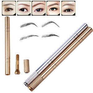 9556d0b11 Image is loading Microblading-Pen-Tattoo-Machine-Permanent-Makeup-Eyebrow- Manual-