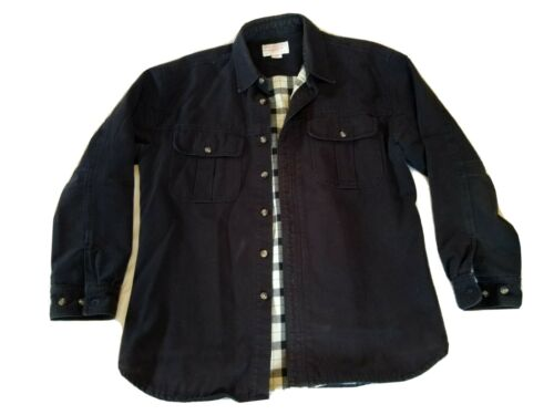 Filson Plaid Lined Black Cruiser Jac Shirt Jacket