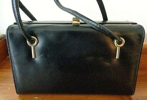 Vintage COBLENTZ black leather handbag