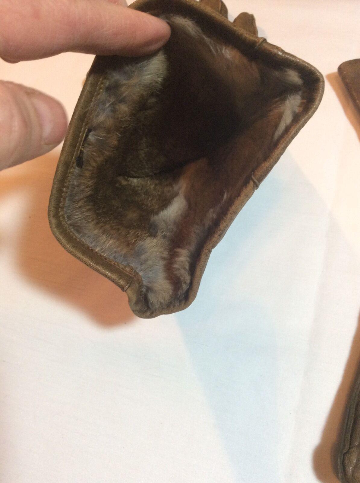 Vintage Hansen Ladies Leather Gauntlet Gloves - image 7