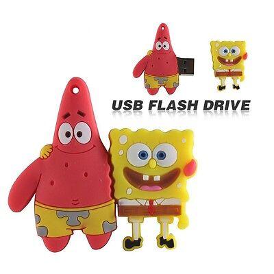Cute Spongebob model USB 2.0 Memory Stick Flash pen Drive 4GB 8GB 16GB 32GB P155