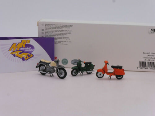 Schuco 03801 # Set m 3 Motorrädern Kreidler Florett,Schwalbe KR51,Vespa PX 1:43