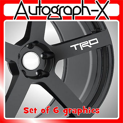 TRD alloy wheel self adhesive vinyl graphic sticker decal