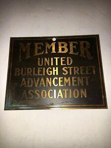 Vintage-Acid-Etched-Member-United-Burleigh-Street-Advancement-Association-Sign