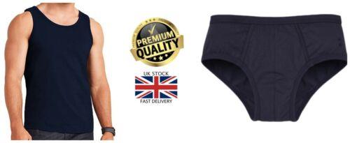 NUOVI Pantaloncini Uomo 4XL King Size Caldo Navy Extra spessa Gilet//Y fronti Mutande Slip
