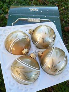 NUOVO-Galvas-4-sfere-palle-palline-di-Natale-decorate-a-mano-21521