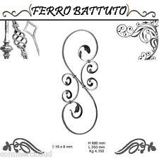 PANNELLI PALETTI FOGLIATI FERRO BATTUTO X SCALA RINGHIERE CANCELLO H 88cm L 35cm