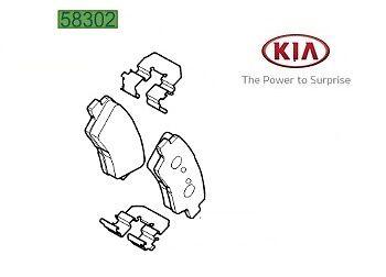 Genuine Kia Sportage 2016-2017 Front Brake Pads 58101D7A50