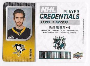 17-18-UD-MVP-NHL-PLAYER-CREDENTIALS-LEVEL-1-ACCESS-NHLAG-NHLWS-U-Pick-List
