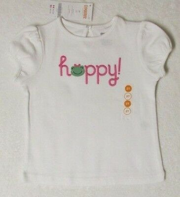 NWT Size 2T 2 Yrs Gymboree BRIGHT TULIPS White S/S Happy! Frog Face T-Shirt Top