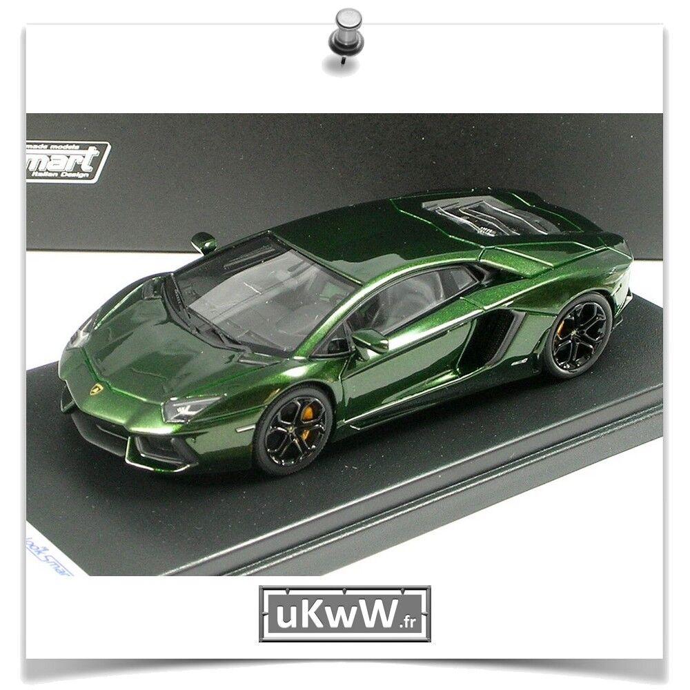 LookSmart 1/43 - Lamborghini Aventador 2011 vert foncé métallisé