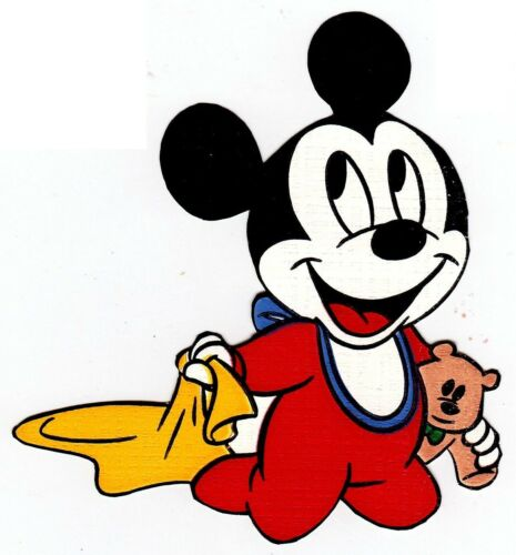 """5/"""" Disney babies mickey blanket wall sticker glossy cut out border character"""