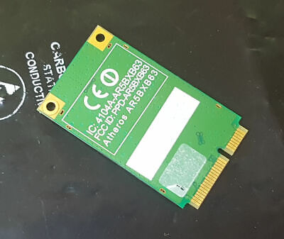 Atheros Ar5bxb63 54 Mbps 802.11 B/g Mini Pci Express Wireless A. Acer One Zg5-