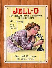"TIN-UPS TIN Sign ""Jello"" Vintage Poster Bar Man Cave Food Snacks  Kitchen Store"