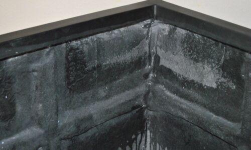 Pflanzkübel Blumenkübel Fiberglas quadratisch 60x60x60cm elegant schwarz-matt.