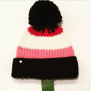a623c1ef984e6 Kate Spade New York Chunky Knit Colorblock Beanie Hat Multi Color ...