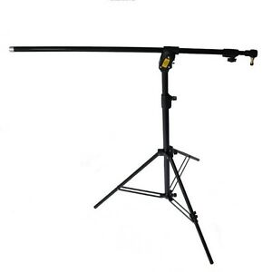Manfrotto-420nsb-Combi-Boom-Stand-Black-Tripod-Gallows-Convertible-Three-Leg