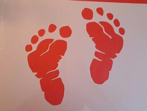 1456 Schablonen Füße Vintage Stanzschablonen Shabby Wandbilder Stencil Vorlagen