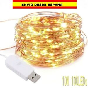 Guirnalda-de-Luces-100-LED-10M-Tira-luz-Cadena-Fairy-Lights-USB-Party-Decoracion