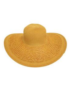 NEW Bondi Beach Bag Co Crochet Weave Brim Floppy Hat Natural